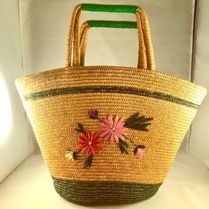 Vintage Raffia Bucket Bag